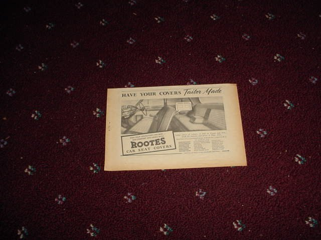 1955 Rootes Seat Covers ad from the Uk