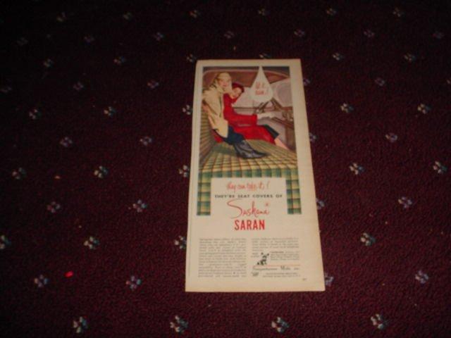 Saran Seat Covers ad