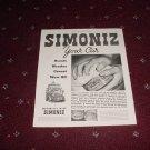 1935 Simoniz Car Wax ad