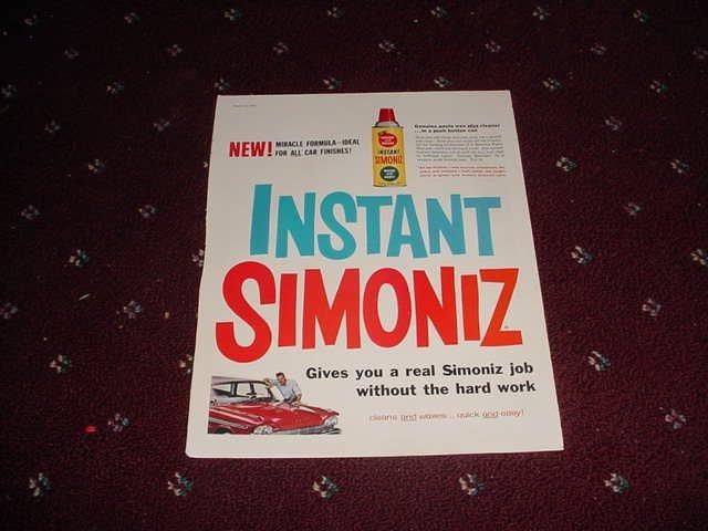 1959 Simoniz Car Wax ad