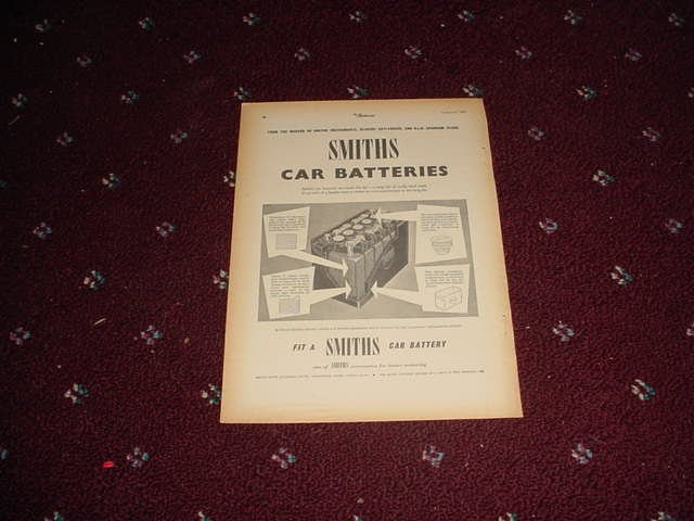 1955 Smiths Car Battery ad from the UK