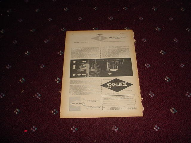1955 Solex Bi-Starter ad from the UK