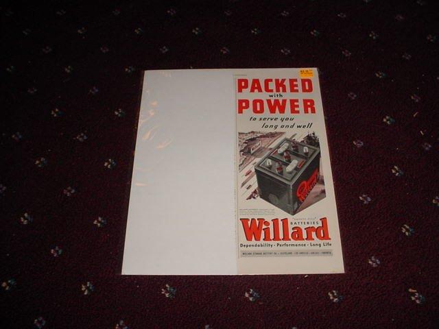 1946 Willard Battery ad #1