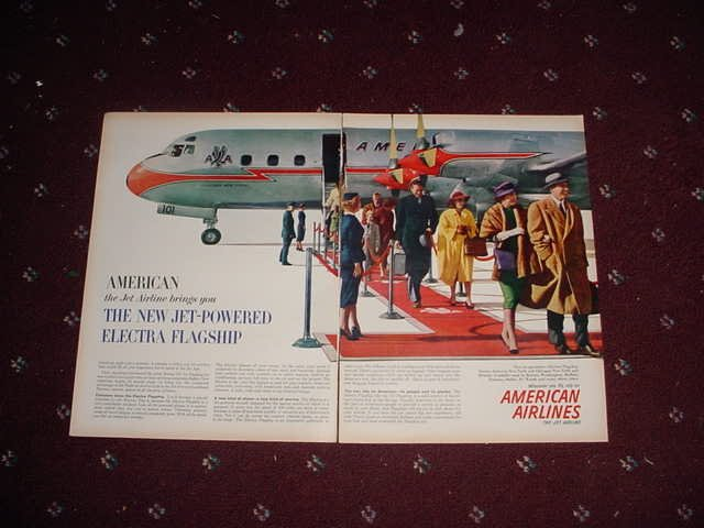 1959 American Airlines Jet Electra ad