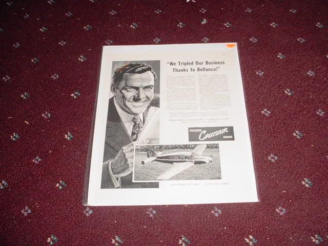 Bellanca Cruisair Aircraft ad
