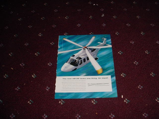 2001 Bell AB139 Helicopter ad