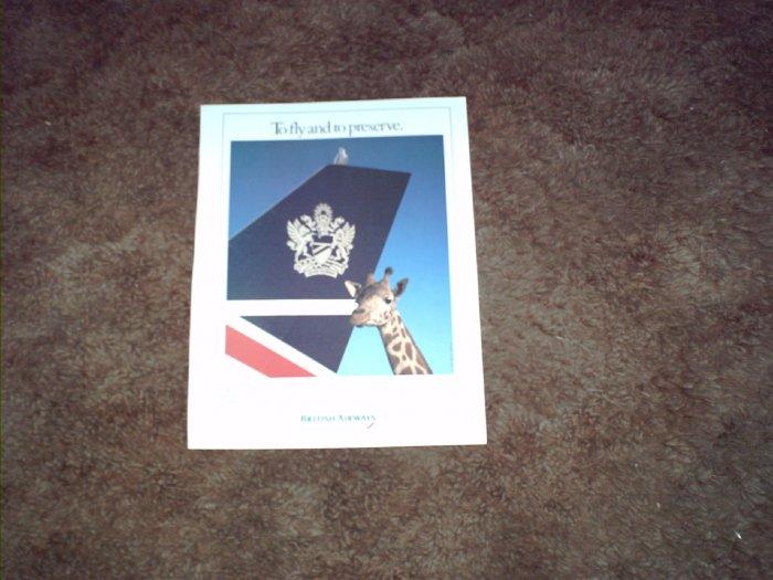 1993 British Airways Airline ad