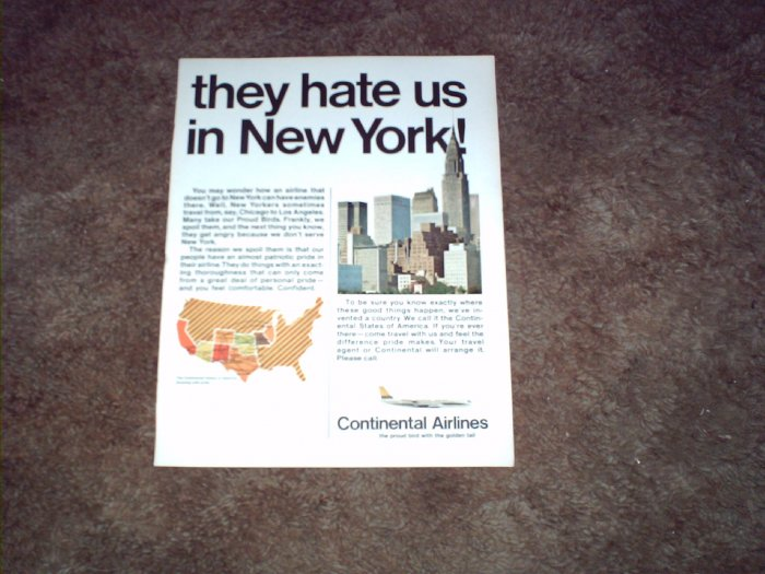 Continental Airlines ad #3