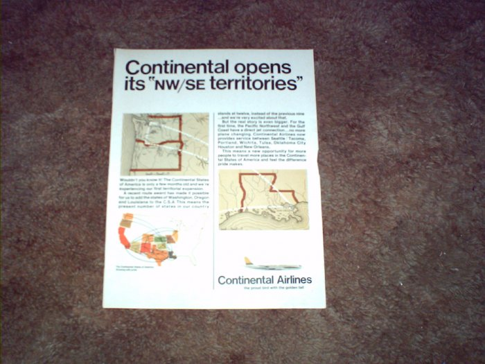 Continental Airlines ad #4