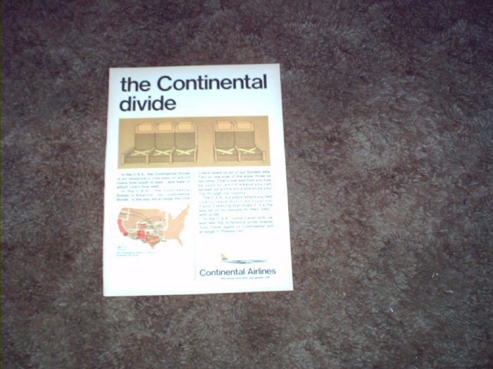 Continental Airlines ad #5