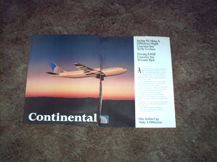1991 Continental Airlines ad