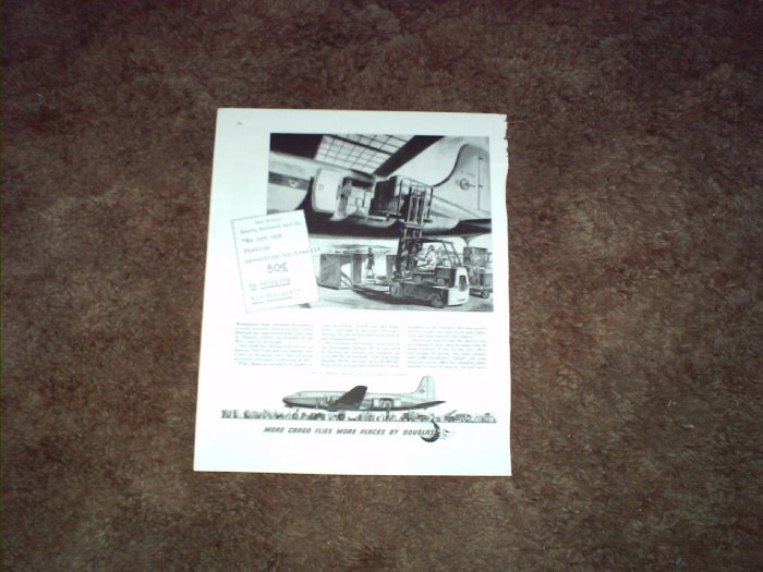 Douglas DC-4 Aircraft ad