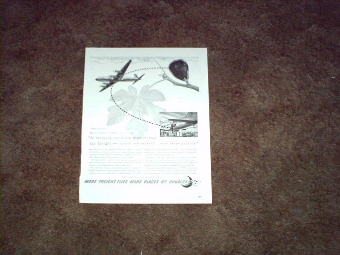 Douglas DC-6 Aircraft ad #1