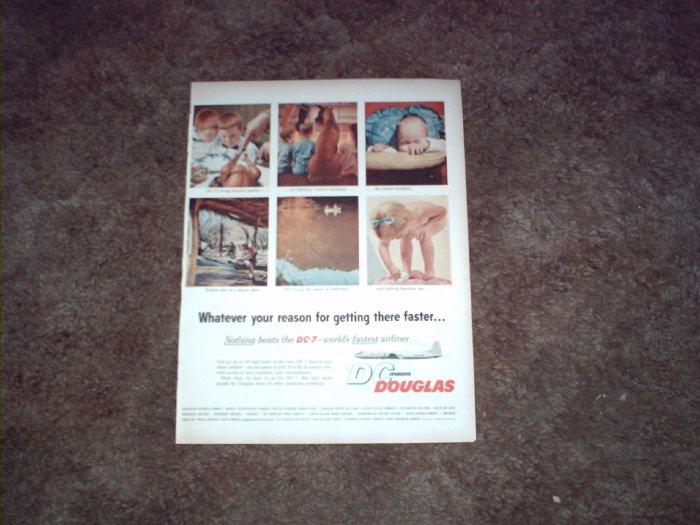 Douglas DC-7 Aircraft ad