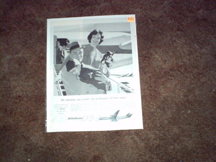1960 Douglas DC-8 Aircraft ad