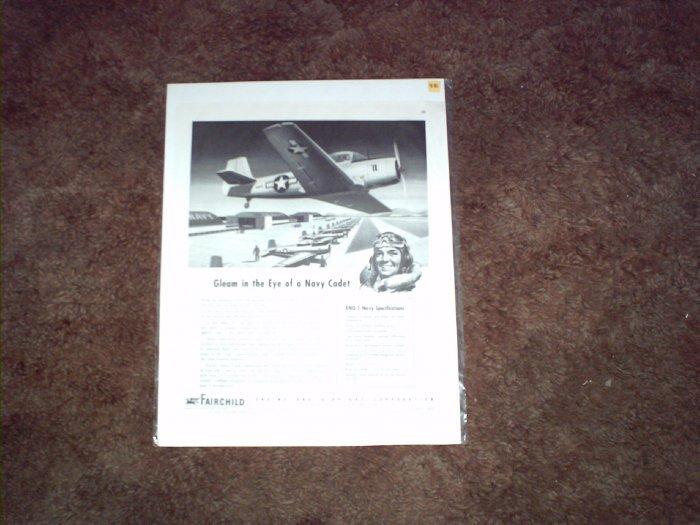 Fairchild XNQ-1 Trainer Aircraft ad