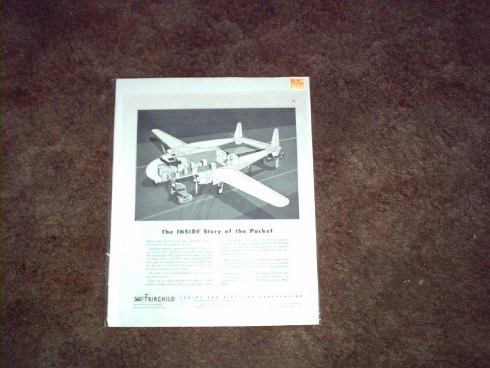 Fairchild Packet Cargo Aircraft ad