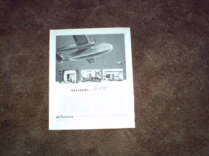 Fairchild BFB Cargo Aircraft ad