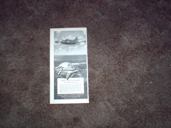 1950 Grumman Turbo-Jet Panther Aircraft ad