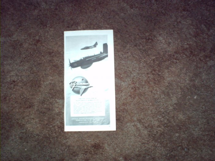 1951 Grumman Guardian & Panther Aircraft ad