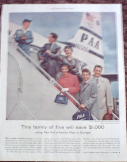 Pan American Airlines ad #2