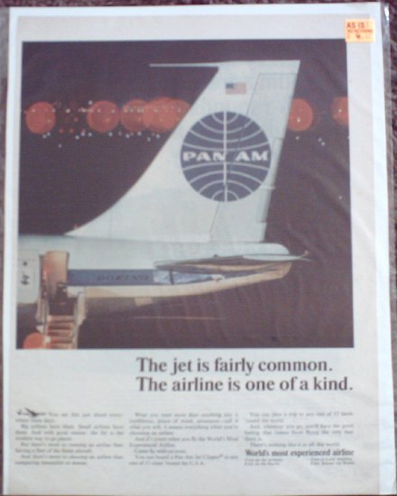 Pan Am Airline ad #11