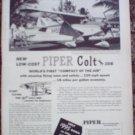 1960 Piper Colt 108 Aircraft ad