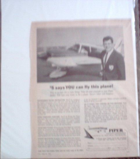 1965 Piper Cherokee Aircraft ad