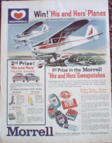 1962 Piper Colt 108 Contest ad for Morell