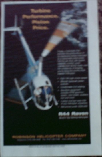 2001 Robinson R44 Raven Helicopter ad