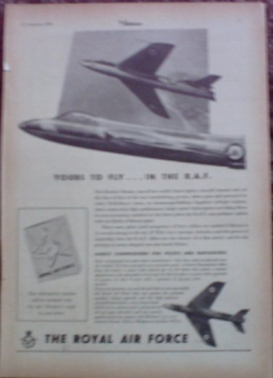 1955 Royal Air Force ad from the UK