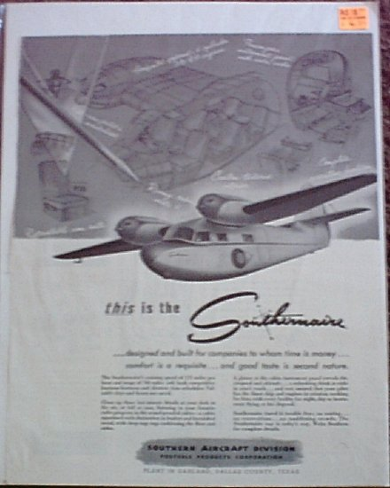 1946 Southernaire Aircraft ad