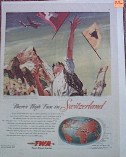 1947 TWA Airlines ad #1