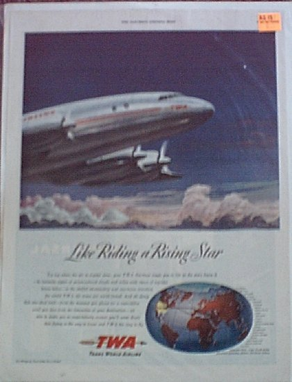 1947 TWA Airlines ad #2