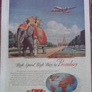 1947 TWA Airlines ad #3