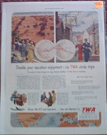 1950 TWA Airlines ad