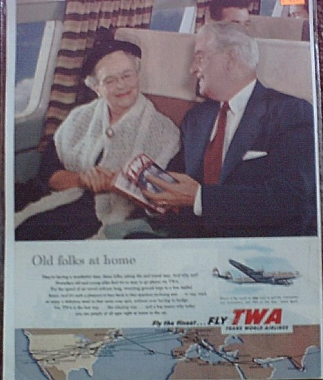 1953 TWA Airlines ad