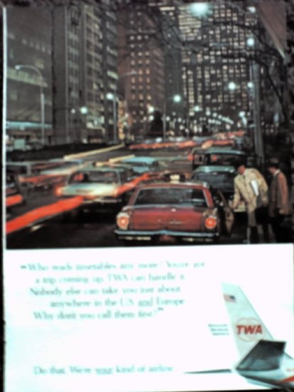 1966 TWA Airlines ad #1
