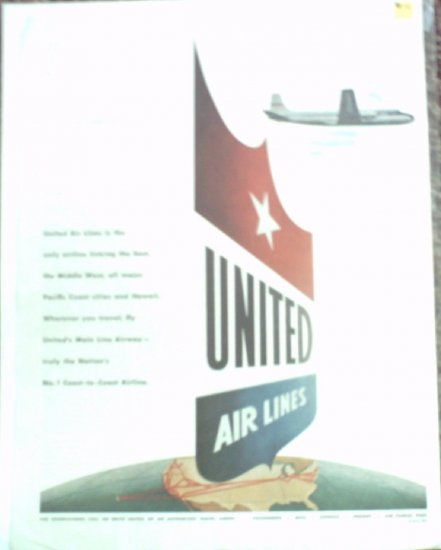1951 United Airlines ad