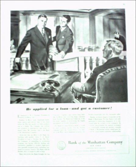 Bank of the Manhattan Company ad