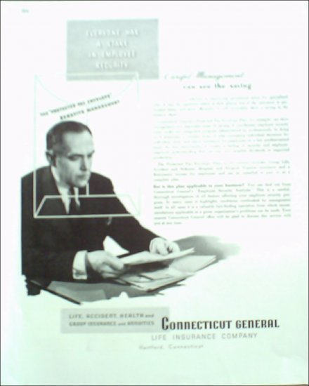 Connecticut General Insurance ad #1