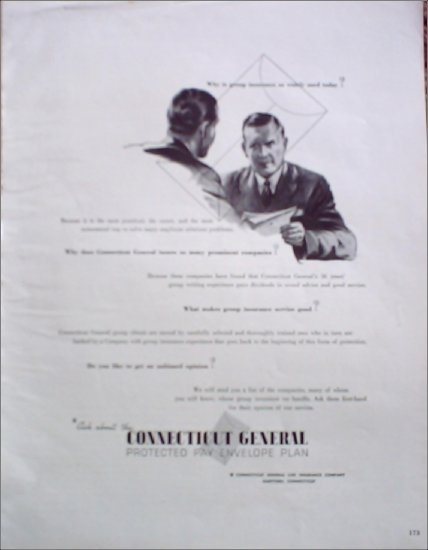 Connecticut General Insurance ad #2
