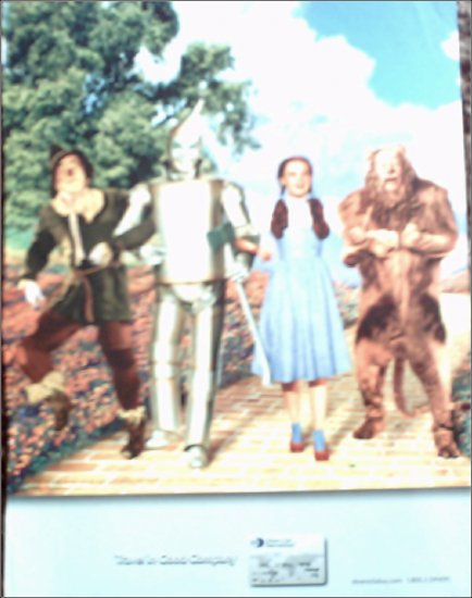 2001 Diners Club ad featuring The Wizard of Oz