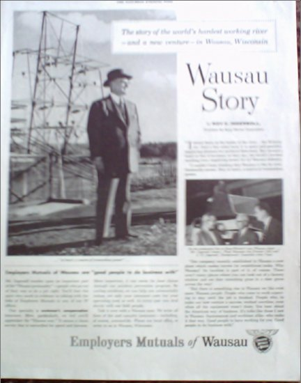 1955 Employers Mutuals of Wausau ad