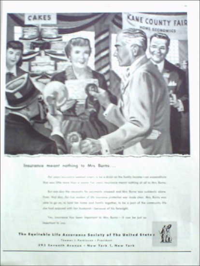 1951 Equitable Life Insurance ad