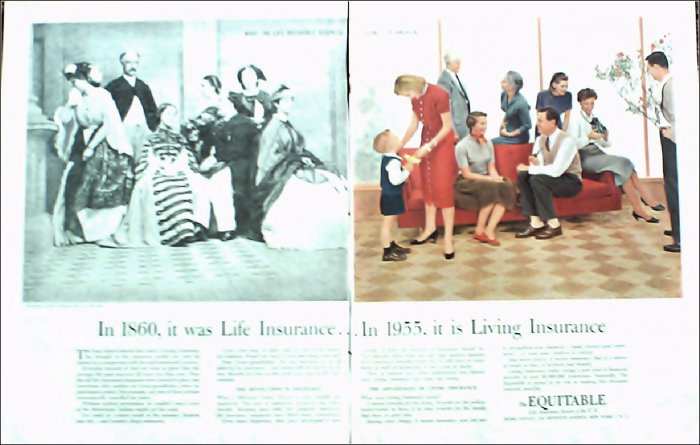 1955 Equitable Life Insurance ad