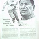 1963 Equitable Life Insurance ad featuring Jim Thorpe