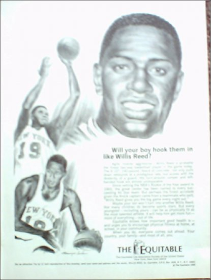 1969 Equitable Life Insurance ad featuring Willis Reed