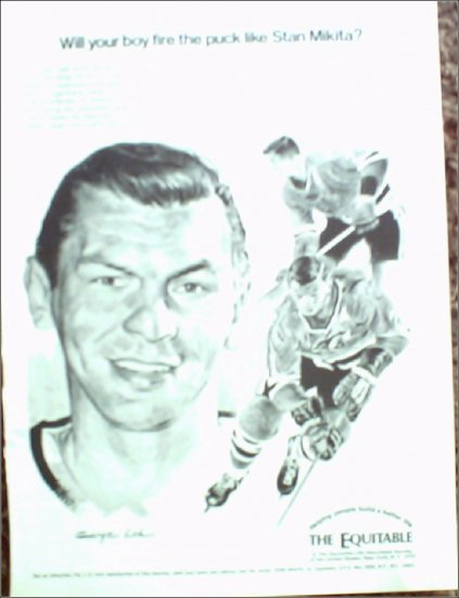 1970 Equitable Life Insurance ad featuring Stan Mikita