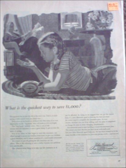 1945 John Hancock Life Insurance ad